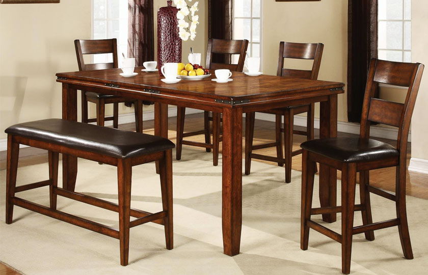 Crown Mark Tyler 4-Piece Counter Height Table