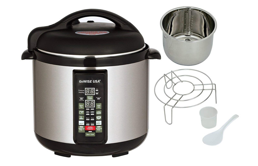 GoWISE 8 into 1 programmable Electric Pressure Cooker XL