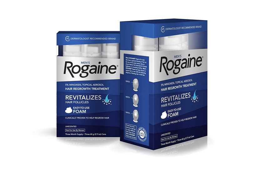 Minoxidil Formula — Men's Rogaine Hair Loss & Hair Thinning Treatment Minoxidil Foam