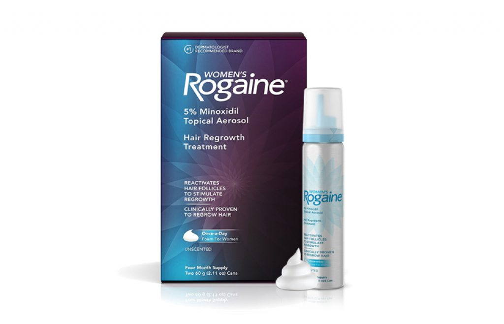 Women's Rogaine 5% Minoxidil Foam for Hair Thinning and Loss, Topical Treatment for Women's Hair Regrowth