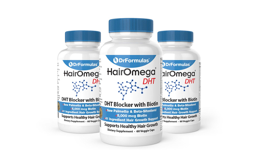 Supplement — DrFormulas HairOmega DHT Blocker Biotin 500 mcg Vitamins for Hair Growth