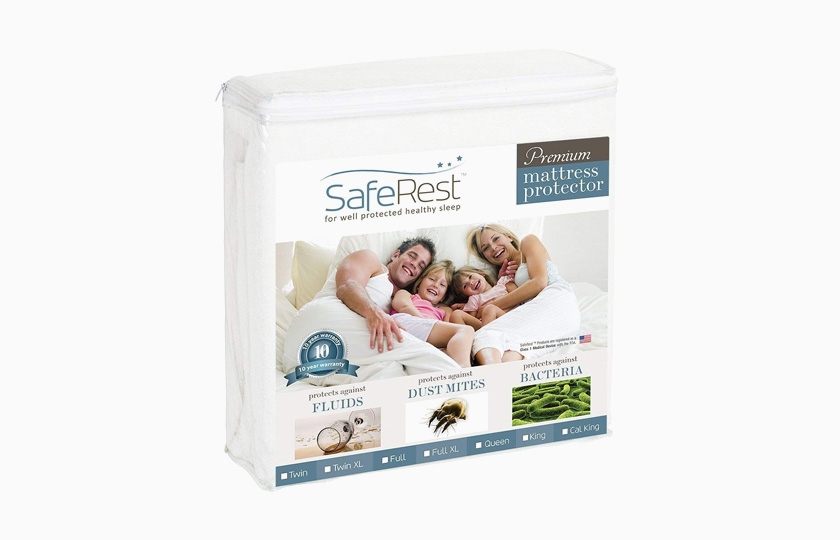 Queen Size Saferest Premium Hypoallergenic Waterproof Mattress Protector